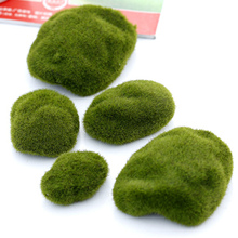 3 pcs Natural Green Artificial Moss Decorative Crafts Micro Landscape Home Ornament Bonsai Succulent Gnomes Miniature