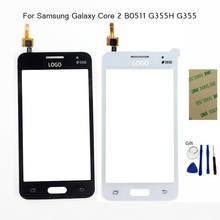 Touch screen For Samsung Galaxy Core 2 II SM-G355H G355 B0511 Duos TouchScreen Digitizer Front Glass Touch Panel + Sticker +Tool