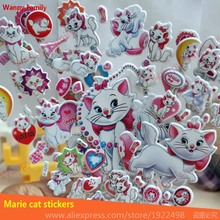 10Pcs/Lot Cute funny Marie cat bubble stickers,3D Marie cat wall stickers for Children's Fancy education toy stickers