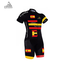 Tour of Spain Coverall 2017 Cycling Skinsuit Ropa De Ciclismo Maillot Men's Cycling Sports Triathlon Sports Cycling Clothing