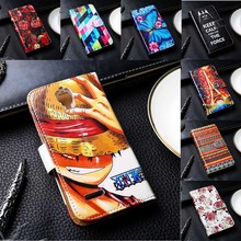 Flip PU Leather Phone Covers For Alcatel OneTouch Idol 2 Mini L 6014 Cases With Card Holders DIY Painted Mobile Phone Skins