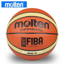 NEW Brand Cheap Molten GL7 Basketball Ball PU Materia Official Size7 Basketball Free With Net Bag+ Needle(China)