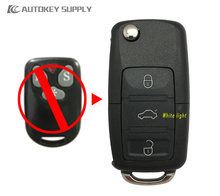 Free shipping Car-styling Remote key for 6P20 program VW flip key 433MHZ, 6P20 Chip for car key(China)