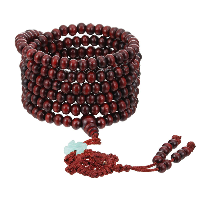 1Pcs Wooden Beads Bracelets Women Natural Sandalwood Bead Bracelet Buddhist Buddha Prayer Mala Men Jewelry Gifts Pulseras