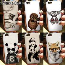 MaiYaCa owl Black Soft TPU silicone Novelty Fundas Phone Accessories Cover For iPhone 5s 6s 7 plus 8 8plus X case(China)