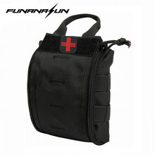 1000D Nylon Molle Tactical First Aid Kit Utility Medical Accessory Bag Pouch Black w/ Medical Cross Embroidery Patch(China)