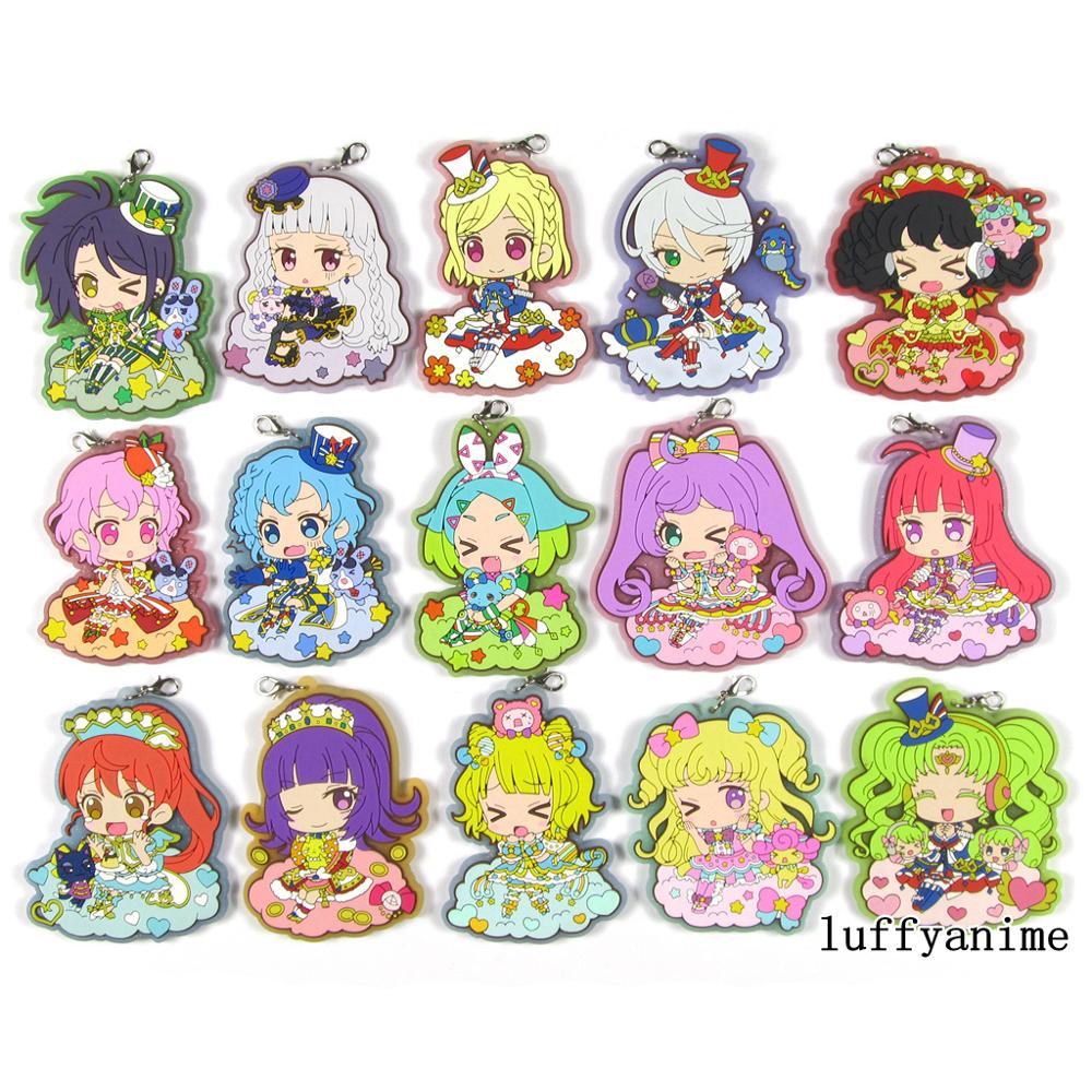 Japan Anime Pripara IdolTime PriPara Manaka Acrylic Keychain KeyRing Strap Charm