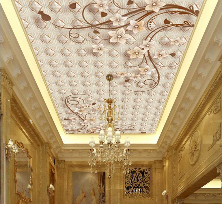 custom 3d ceiling murals wallpaper Euporean pattern 3d ceiling photo wall papers home decor Non-woven 3d wallpaper for ceiling<br><br>Aliexpress