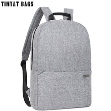 Buy TINYAT Men Student School Bags Teenages Male Canvas Schoolbag 15 inch Laptop Backpack Gray Travel Backpack Mochila T851 for $19.54 in AliExpress store
