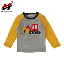 2017 Autumn Children's Clothing European And American Children's Bottoming Shirt Cotton Baby Long-sleeved Cartoon T-shirt