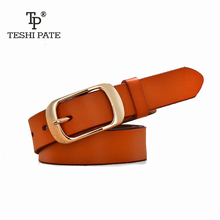 Buy TESHI PATE New Designer Fashion Women's Belts Genuine Leather Brand Straps Female Waistband Pin Buckles Fancy Vintage Jeans for $7.87 in AliExpress store
