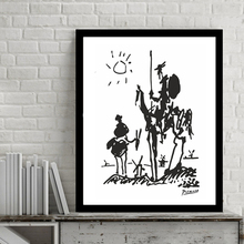 unFrame Modern Canvas Art Pablo Picasso Paintings Don Quixote Banksy Poster Abstract Oil Painting Wall Pictures Living Room