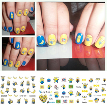 1pcs NEW Nail Art Sticker 12 designs Yellow Water Transfer Decals DIY Tips Nails Foils Decals Decor Beauty Tools TRSTZ075-085