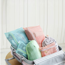 Good Quality 4 Pieces/set Travel Clothing Bag Classification Pouch Breathable Mesh Organizer Storage Bag Home Item Bulk Cheap(China)