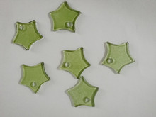 Cute Glass star Hanging ornaments with hole, glass craft, idea for wind chimes, home decoration