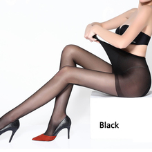 Buy Sexy Stockings Pantyhose Fashion High Waist Solid Color Tights Large Size High Stretch Skinny Legs Collant Women Stocking