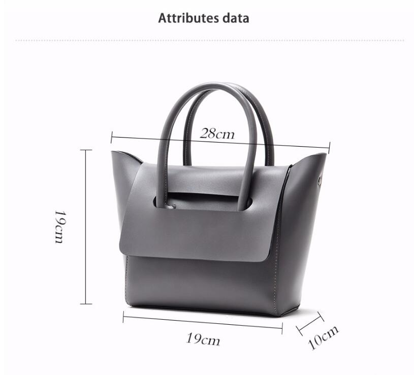 Viewinbox Mini Tote Bag Women S Famous Brand Soft Cattle Leather ... 760dd55e352b5