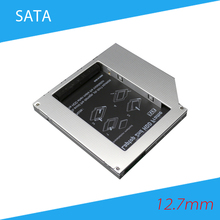 [Free Shipping]High Quality Aluminum 12.7mm SATA to SATA Second HDD Caddy 2nd HDD Hard Dist Drive SATA Frame