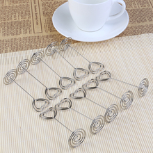 10pcs Place Card Holder Heart Shape Wedding Party Favor Table Mark Cards for Wedding Banquet Decoration