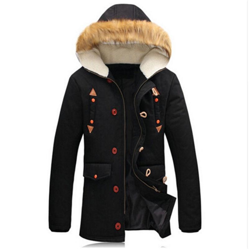 2017 New Winter Mens Korean Cultivating In the Long Coat Warm Male Casual Hooded Coat Size Thick TideÎäåæäà è àêñåññóàðû<br><br>