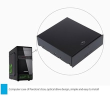 "Desktop Computer 5.25"" Bay Case Box Rack Blank Organizer Drawer for Storage Devices Memory Cards USB Flash Drive V3950"
