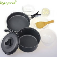 Premium Outdoor Aluminum 8pcs Outdoor Camping Hiking Cookware Backpacking Cooking Picnic Bowl Pots Pan Sets Gifts