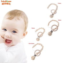 Buy Baby Nipple Clips Wooden Ring Beads Teether Pacifier Infants Soother Holders 10 14 16 mm for $1.37 in AliExpress store