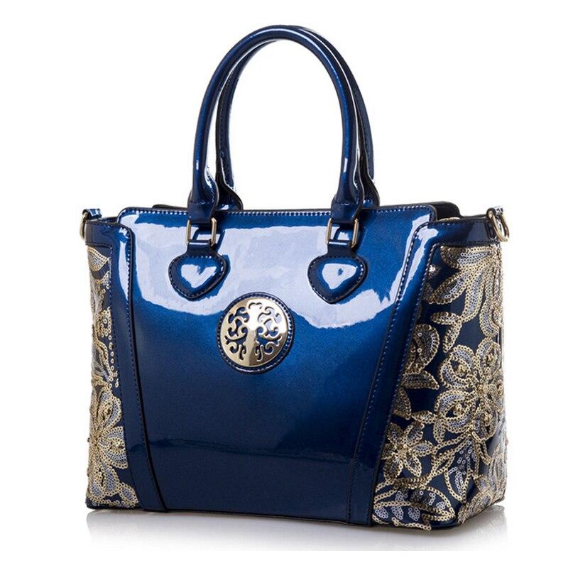 2016 European fashion high quality patent leather handbag Ladies Casual Handbag Shoulder Bags<br>