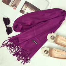2017 brand women scarf fashion soild autumn winter cashmere scarves lady warmer pashmina long shawl wraps bandana foulard female(China)