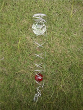 11 inch wind spinner  SPARE PART (CRYSTAL DOUBLE BALL SPIRAL made from METAL with high quality
