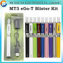 MT3 atomizer and ego t battery blister kits,mt3 vaporizer 2.0ml electronic cigarette ego rechargeable battery mt3 blister kit