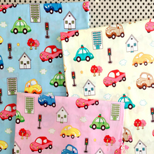 100x160cm Pretty Cartoon 3 Colors Cars Printed 100% Cotton Fabric For DIY sewing bedding Quilting home decoration(China)