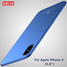 Buy iPhone x case Original MSVII brand Silm scrub case Apple iphone x coque ultra thin PC cover iphone 10 iphonex cases for $4.14 in AliExpress store
