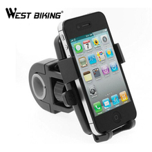 WEST BIKING Bike Navigation Bicycle Phone Holder Double Rotation Clip Stand Bracket Universal Cycling Bicycle Phone Holder(China)