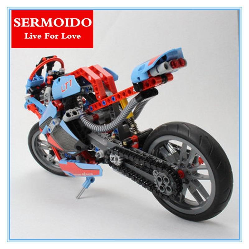 SERMOIDO New 2017 375PCS Technic Series The BAMW Off-road Motorcycles Building Blocks Bricks Educational Toys for Kid 42036<br>