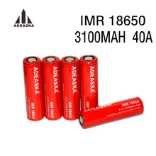 1 stks ADEASKA 18650 Batterij 3.7V Ion Ontlading 40A 3100mah Aspire IMR 18650 Cell Hybrid Battery High drain li-mn rechargeable