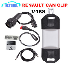 Newest V168 Renault Can Clip Code Reader Diagnostic Scanner For Renault Car From 1998~2015 Green PCB Board Stable Function(China)
