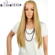 S-noilite 26 inches 300g Real Thick Wigs for Black Women Silky Straight Cosplay None Lace Wig Black Brown Blonde Stnthetic Hair(China)