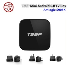 T95P Amlogic S905X Quad Core Android 6.0 TV Box 2+8G KDPlayer 16.1 Online Update TV Box better than Mini MX plus Set Top Box(China)
