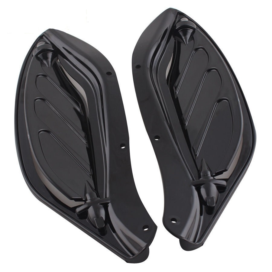 Motocycle Black Adjustable Side Wing Air Deflectors Fairing For Harley Classic FLHT 1996-2013 12<br>