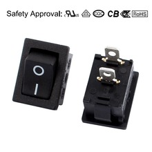 2 Pcs SPST 2 Position ON/OFF 2 Terminal Rocker Switch AC 250V/10A 125V/12A UL Listed(China)