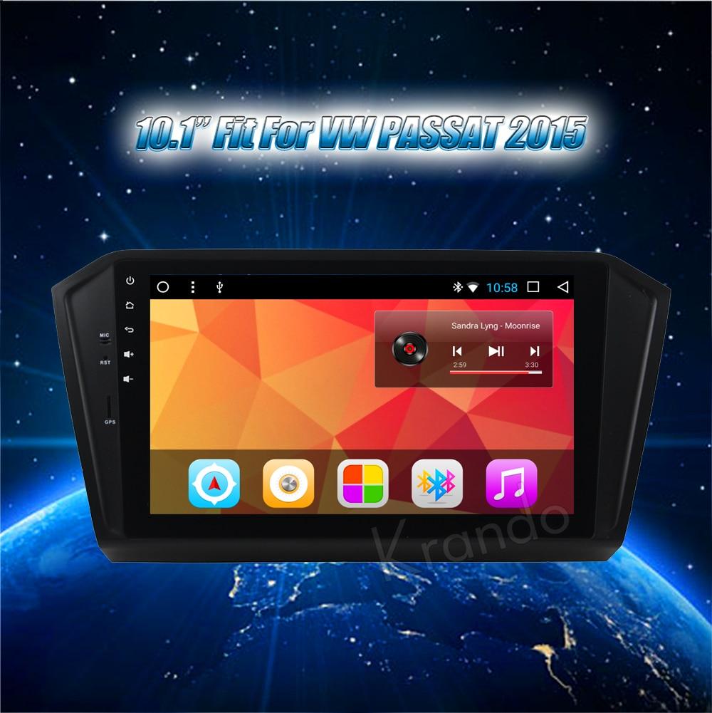 Krando Android car radio gps navigation multimedia system for VW PASSAT 2015