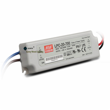 100-240Vac to 9-30VDC ,21W ,700ma constant current IP67 UL   power supply ,Led light,led signboard driver ,LPC-20-700