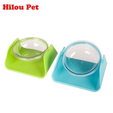 Pet Dry Food Cat Adjustable Bowls for Dogs Tilted Bowls Drinking Water Fountain Pet Dog Dish Feeder Prevent Broken(China)
