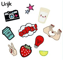 Urijk 10PCs Cartoon Iron On Patches For Clothing Badges Applications Embroidery Patch Stikers For Clothes Sewing DIY Craft(China)