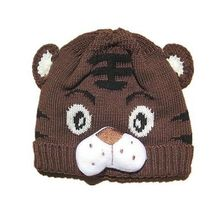 1pcs Baby Girls Boys Kids Toddlers Crochet Knit Cute Tiger Hat Cap Beanie Bonnet(China)