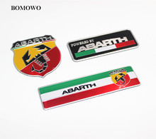 3D Metal Car Abarth Adhesive Badge Emblem Decal Sticker Scorpion For All Fiat Abarth Punto 124/125/125/500 Car Styling