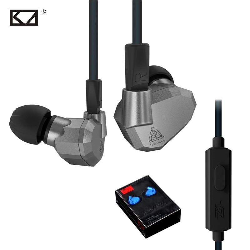 KZ ZS5 Fone Suporte de Celular Universal Phone Earphone Mic Earphones Sport 8Drivers Hybrid Dynamische Dynamic Balanced Armature<br>