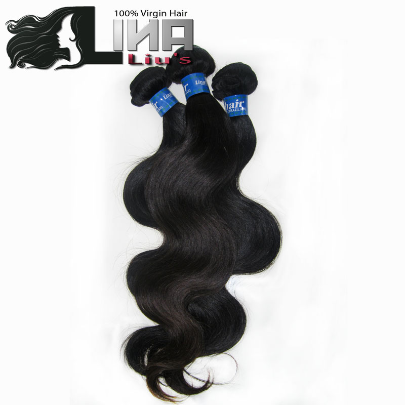 human Hair Body wave 12-28 300g/lot brazilian virgin hair unprocessed human hair weaves Color 1b# Mix Lengths  Free Shipping<br><br>Aliexpress