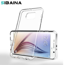 Sibaina Ultrathin Transparent Clear Silicone cases for samsung galaxy S2 S3 S4 S5 S6 S7 Edge S5 Mini S4 S3 mini Fundas Coque